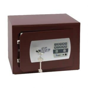 Caja fuerte sobreponer Serie 600 con cerradura de llave y combinación electrónica