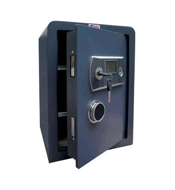 Caja fuerte sobreponer Serie Nova con cerradura de llave y combinación electrónica