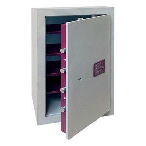 Caja fuerte sobreponer Serie Cuarzo con cerradura de llave y combinación electrónica