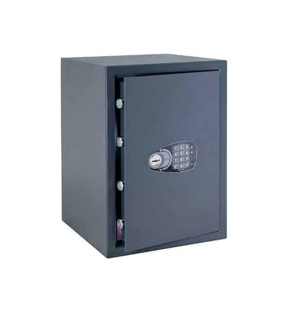 Caja fuerte sobreponer Serie Decora con cerradura de llave y combinación electrónica
