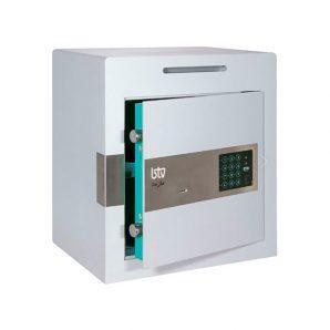 Caja fuerte sobreponer Serie Jade pequeña con cerradura de llave y combinación electrónica