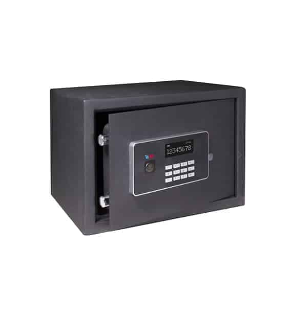 Caja fuerte sobreponer Serie Vision con cerradura de llave y combinación electrónica